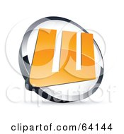 Royalty Free RF Clipart Illustration Of A Pre Made Logo Of A Letter W In A Circle