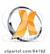 Royalty Free RF Clipart Illustration Of A Pre Made Logo Of A Letter X In A Circle
