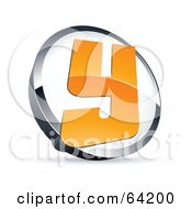 Royalty Free RF Clipart Illustration Of A Pre Made Logo Of A Letter Y In A Circle