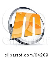 Royalty Free RF Clipart Illustration Of A Pre Made Logo Of A Letter M In A Circle by beboy #COLLC64209-0058