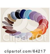 Royalty Free RF Clipart Illustration Of A Circle Of Colorful Plates