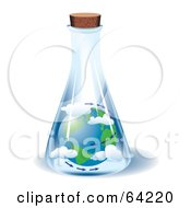 Royalty Free RF Clipart Illustration Of The Earth And Air Trapped In A Jar by Eugene