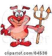Royalty Free RF Clipart Illustration Of A Sparkey Dog Devil by Dennis Holmes Designs