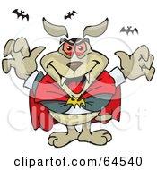 Sparkey Dog Dracula With Bats