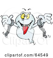 Royalty Free RF Clipart Illustration Of A Spooky Chained Ghost
