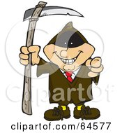 Royalty Free RF Clipart Illustration Of A Businessman Grim Reaper by Dennis Holmes Designs