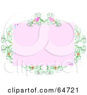 Pink Heart Vine Border Frame