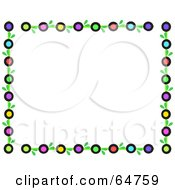 Colorful Circle And Leaf Border Frame