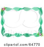 Green Leaf And Flower Border Frame