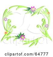 Colorfully Flowering Vine Border Frame Version 3