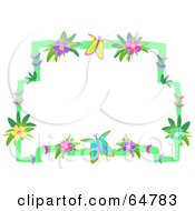 Flower And Butterfly Border Frame