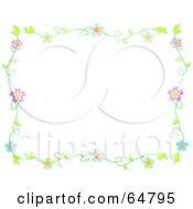 Colorfully Flowering Vine Border Frame Version 8