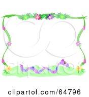 Snake And Flower Border Frame