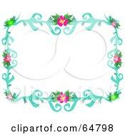 Colorfully Flowering Vine Border Frame Version 5