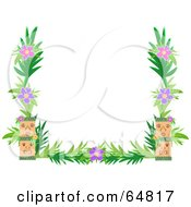 Royalty Free RF Clipart Illustration Of A Tiki And Flower Border Frame