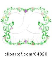 Colorfully Flowering Vine Border Frame Version 7