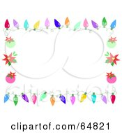 Royalty Free RF Clipart Illustration Of A Christmas Light And Bauble Border Frame