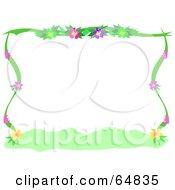 Flowering Plant Border Frame
