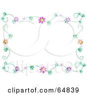 Colorfully Flowering Vine Border Frame Version 1