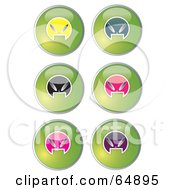 Royalty Free RF Clipart Illustration Of A Digital Collage Of Colorful Alien Head Website Buttons Version 4 by YUHAIZAN YUNUS
