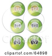 Royalty Free RF Clipart Illustration Of A Digital Collage Of Colorful Alien Head Website Buttons Version 3 by YUHAIZAN YUNUS