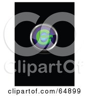 Blue And Green Copyright Symbol Button