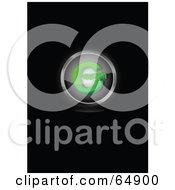 Green Copyright Symbol Button