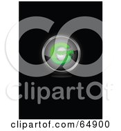 Royalty Free RF Clipart Illustration Of A Green Copyright Symbol Button by YUHAIZAN YUNUS