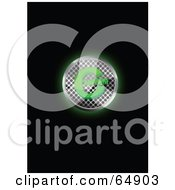 Glowing Chrome Mesh And Green Copyright Symbol Button