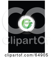 White And Green Copyright Symbol Button