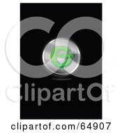Royalty Free RF Clipart Illustration Of A Chrome And Green Copyright Symbol Button by YUHAIZAN YUNUS