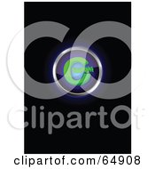 Royalty Free RF Clipart Illustration Of A Glowing Blue And Green Copyright Symbol Button by YUHAIZAN YUNUS