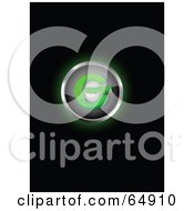 Royalty Free RF Clipart Illustration Of A Glowing Green Copyright Symbol Button by YUHAIZAN YUNUS