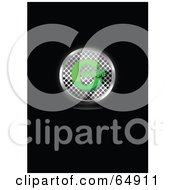 Royalty Free RF Clipart Illustration Of A Chrome Mesh And Green Copyright Symbol Button by YUHAIZAN YUNUS