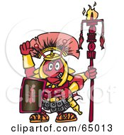 Royalty Free RF Clipart Illustration Of A Warrior Fire Ant Facing Front