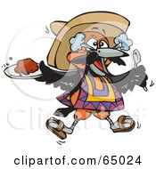 Royalty Free RF Clipart Illustration Of A Bird Eating Spicy Chili