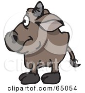 Royalty Free RF Clipart Illustration Of A Wild Bull Facing Left