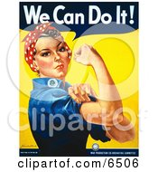 We Can Do It Rosie The Riveter Clipart by JVPD #COLLC6506-0002