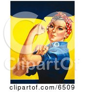 We Can Do It Rosie The Riveter Without Text Facing Left Clipart by JVPD #COLLC6509-0002