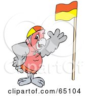 Royalty Free RF Clipart Illustration Of A Galah Cockatoo With A Flag