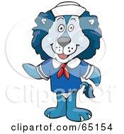 Sea Lion Sailor In Uniform