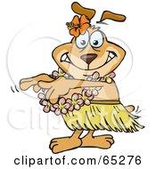 Sparkey Dog Hula Dancing