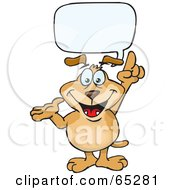 Royalty Free RF Clipart Illustration Of A Sparkey Dog With A Text Bubble
