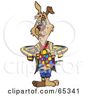 Royalty Free RF Clipart Illustration Of A Patch Dog In Funky Clothes