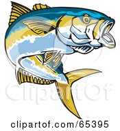 Royalty Free RF Clipart Illustration Of A Yellowtail Fish by Dennis Holmes Designs #COLLC65395-0087