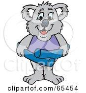 Female Koala With A Swim Noodle