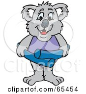 Royalty Free RF Clipart Illustration Of A Female Koala With A Swim Noodle