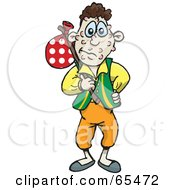 Royalty Free RF Clipart Illustration Of A Wanderer Man Covered In Spots