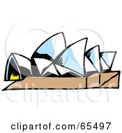 Royalty Free RF Clipart Illustration Of An Opera House by Dennis Holmes Designs