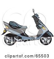 Profiled Gray Moped